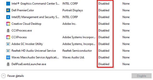 ccxprocess.exe in the Startup menu