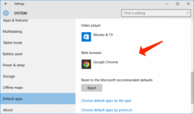 Google Chrome als Standardbrowser