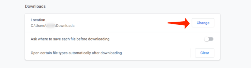 failed network - downloads section