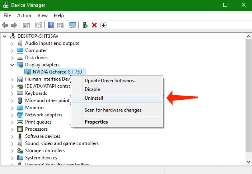 Download Failed – Network Error - windows uninstall device