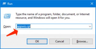 archivos temporales ejecutan appwiz