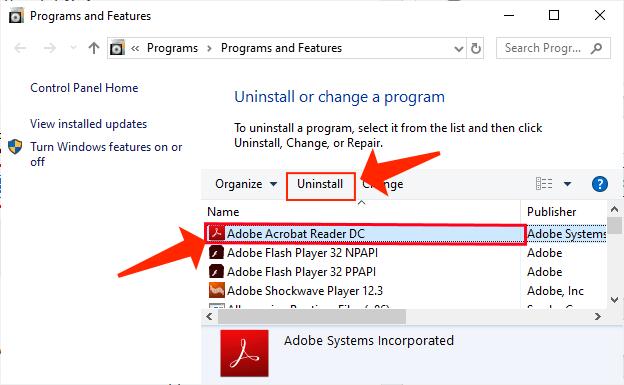 fix LogTransport2.exe - windows adobe uninstall