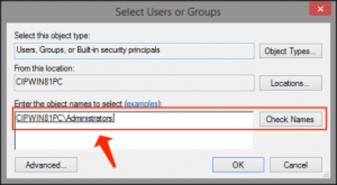 compartir archivos: seleccione usuario o grupo