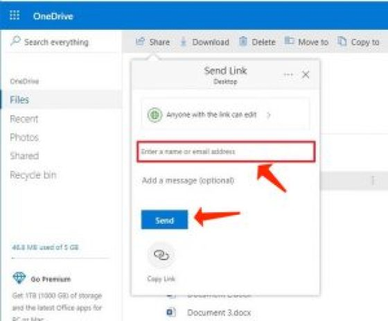 compartir archivos onedrive desde la web ingresar correo electrónico
