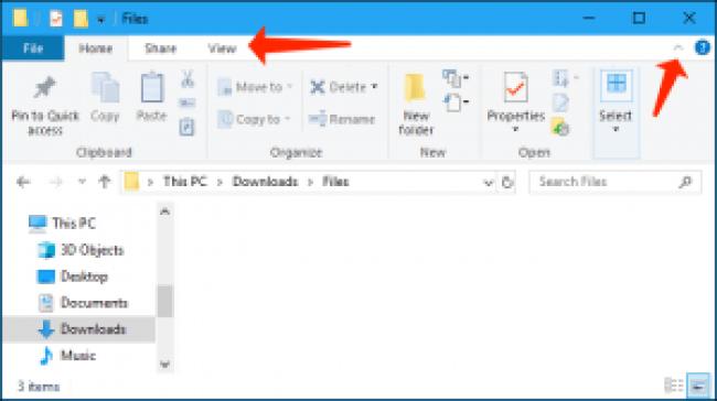 explorador de archivos de windows 10 - pestaña de inicio