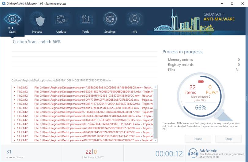 GridinSoft Anti-Malware custom scan