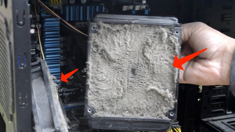 PC dust cleaning
