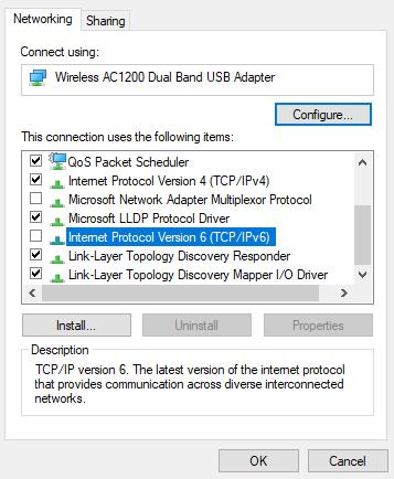 0x8007422 error - ipv6 disable
