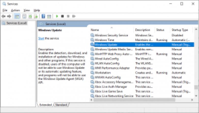 0x8007422 錯誤 - Windows 更新服務
