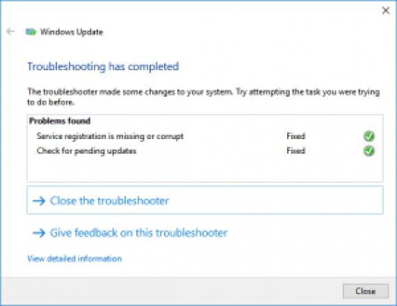 Problemas de Windows 10: se ha completado la resolución de problemas