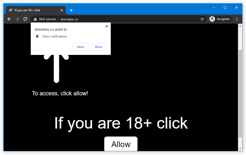 Dnsvibes.co push notification