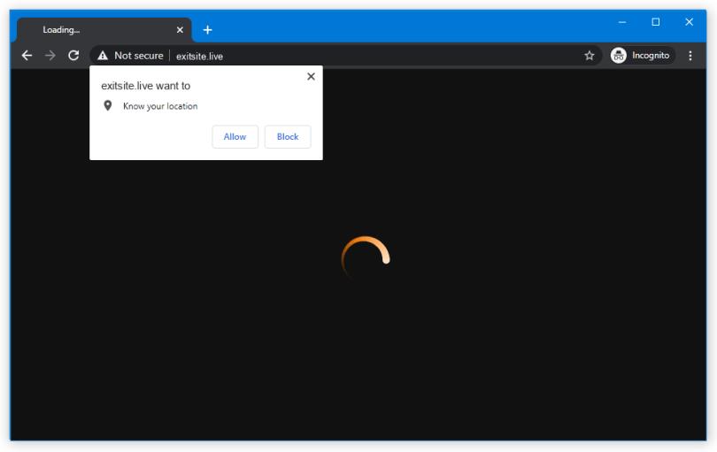 Exitsite.live push notification