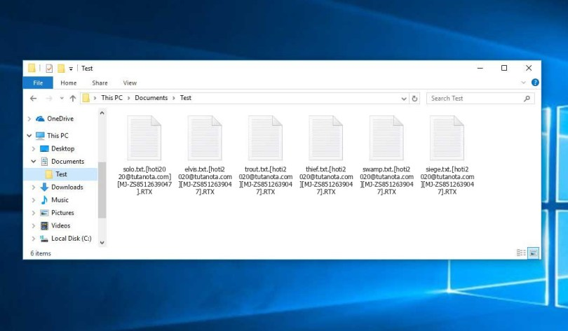 Rtx Virus - encrypted .RTX files