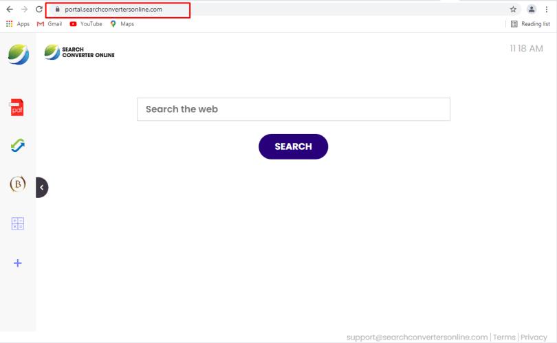 SearchConvertersOnline hijacker - Searchconvertersonline.com