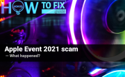 Apple Event 2021 became a ground for cryptocurrency fraud