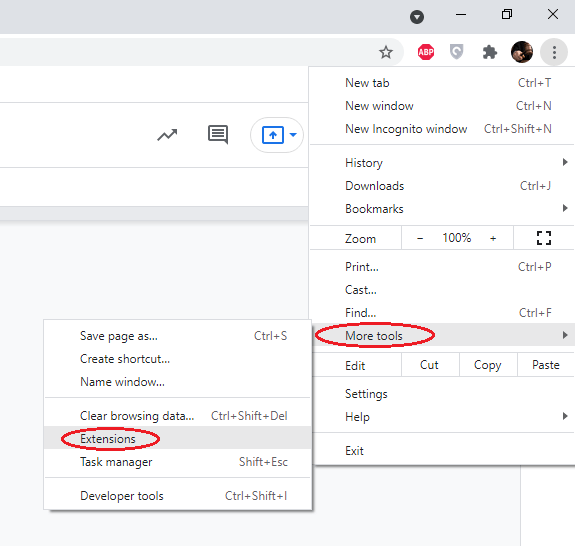 remove browser extensions - chrome remove plugin