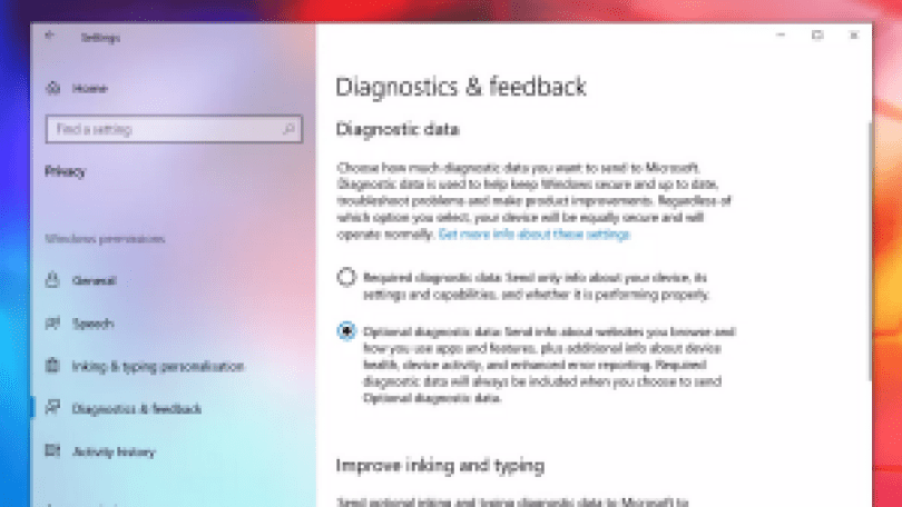 Windows11の必須パラメーターの診断とフィードバック