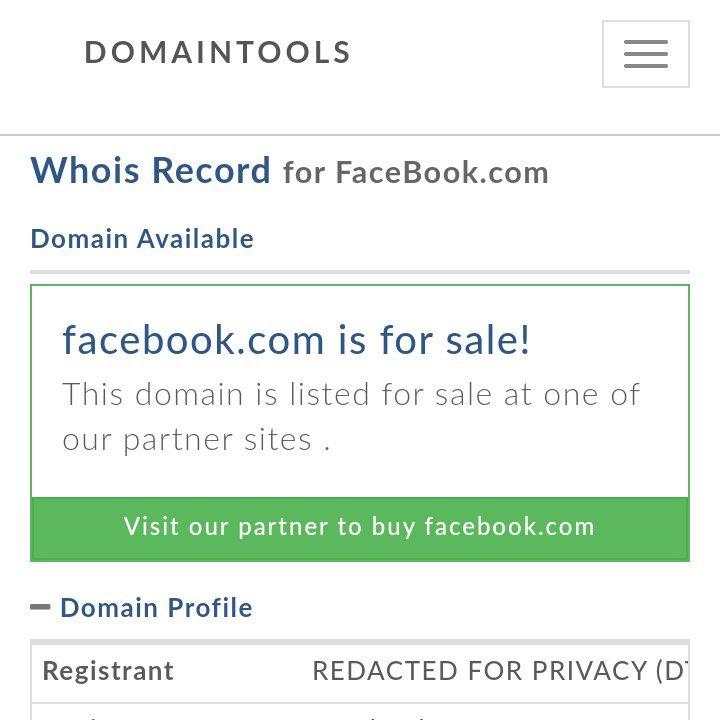 Facebook.com for sale