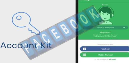 Facebook finishes username and password