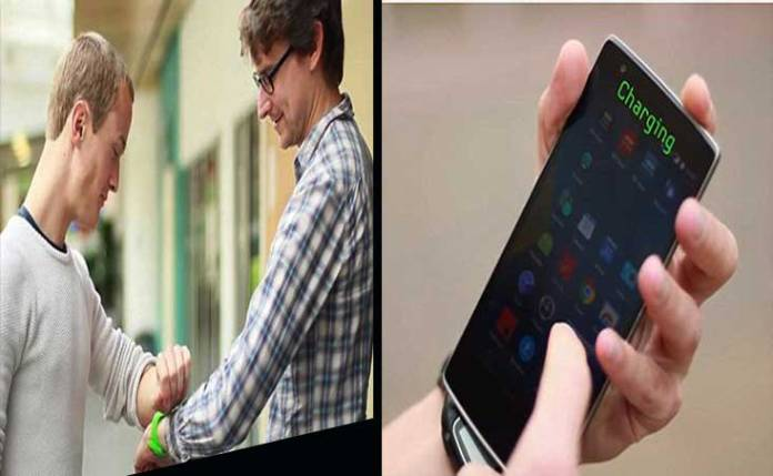 share energy of two devices wirelessly