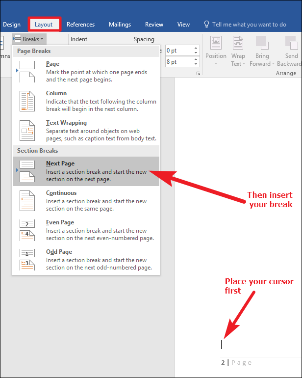How To Change Header Section In Word : change, header, section, Section, Break, Remove, Previous