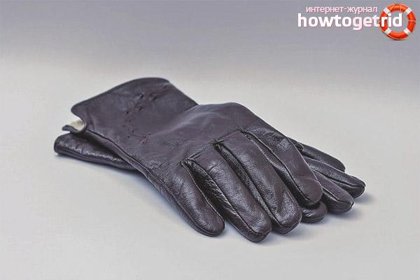 Cómo lavar los guantes de cuero
