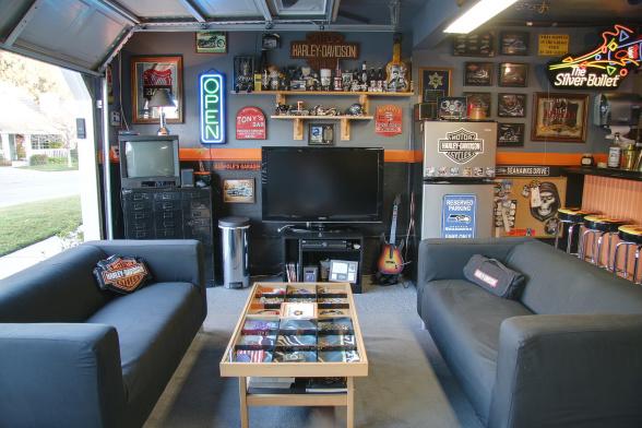 Simple Garage Man Cave Ideas image and description