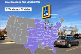 Standorte von Aldi in den USA
