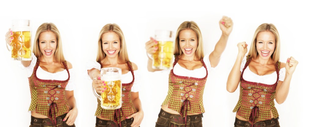 Waitress at the Oktoberfest