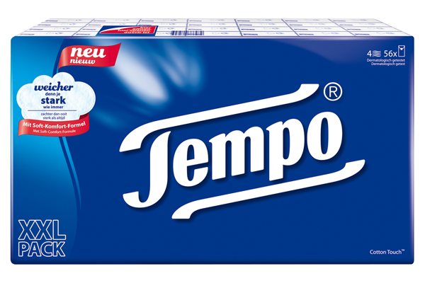 Tempo facial tissue in Germany