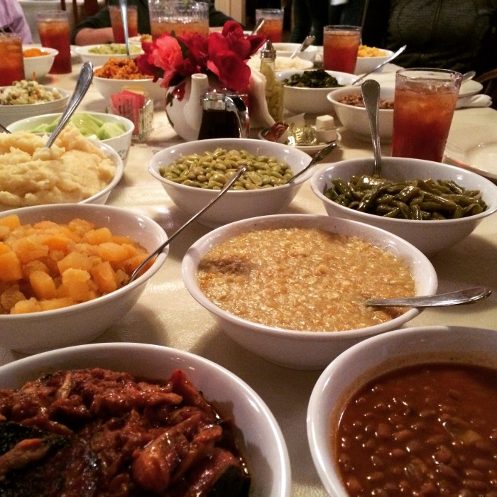 Southern American food at Mrs. Wilkes, Savannah, GA