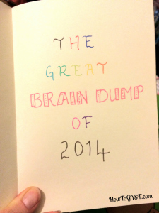 Stop forgetting things -- brain dump
