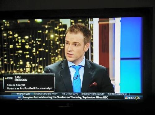 Sam Monson on NBC Sports Network: Pro Football Focus grading the 2015 Draft. American football.