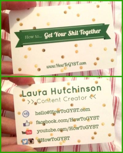 HowToGYST.com Business cards back & front