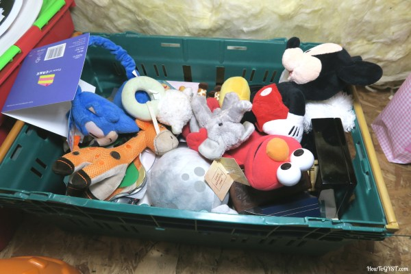 Completing the KonMari Method -- soft toys in attic -- mementoes