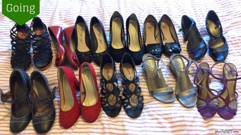 Closet clear-out: things to remove from your closet. Item #6: unworn shoes