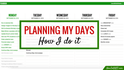 Here's a behind-the-scenes look at how I plan my days, including why I do it, and what I use.