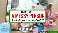 Living with a messy person? Here's what to do to keep the house clean & stay sane. CLICK THROUGH to read the 6 different strategies when you live with a slob.