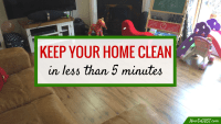 Keep your home clean in less than 5 minutes a day | Home cleaning & organization