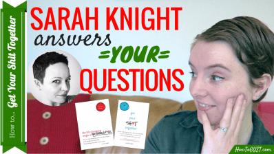 February 2017 -- Sarah Knight gives life advice