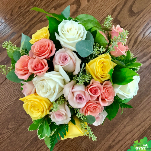 Is your home more 'zoo' than 'zen'? Turn your home into a haven with these 10 simple steps   bouquet of flowers   roses   pink roses   yellow roses   white roses