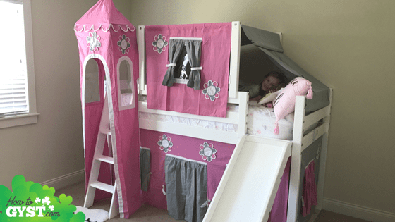 August 2017 – Scout's princess castle bed