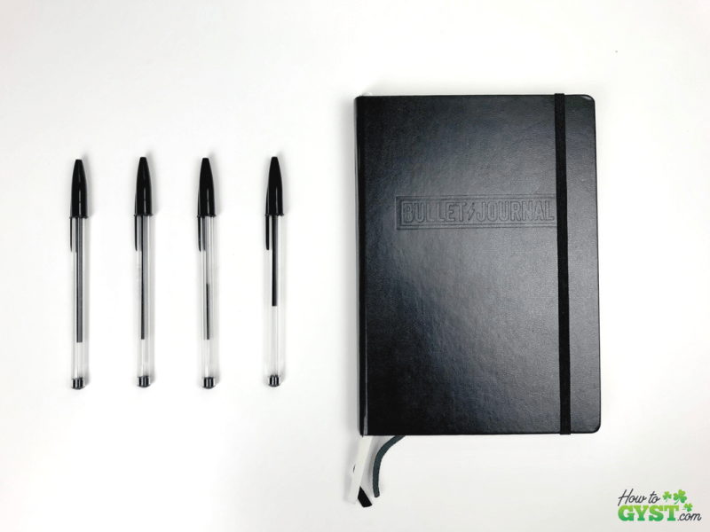 17 things I learned in 2017 | Leuchtturm 1917 notebook Bullet Journal edition, front cover, black | Stationery addict