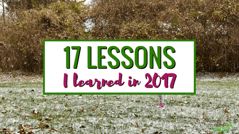 17 Things I Learned In 2017