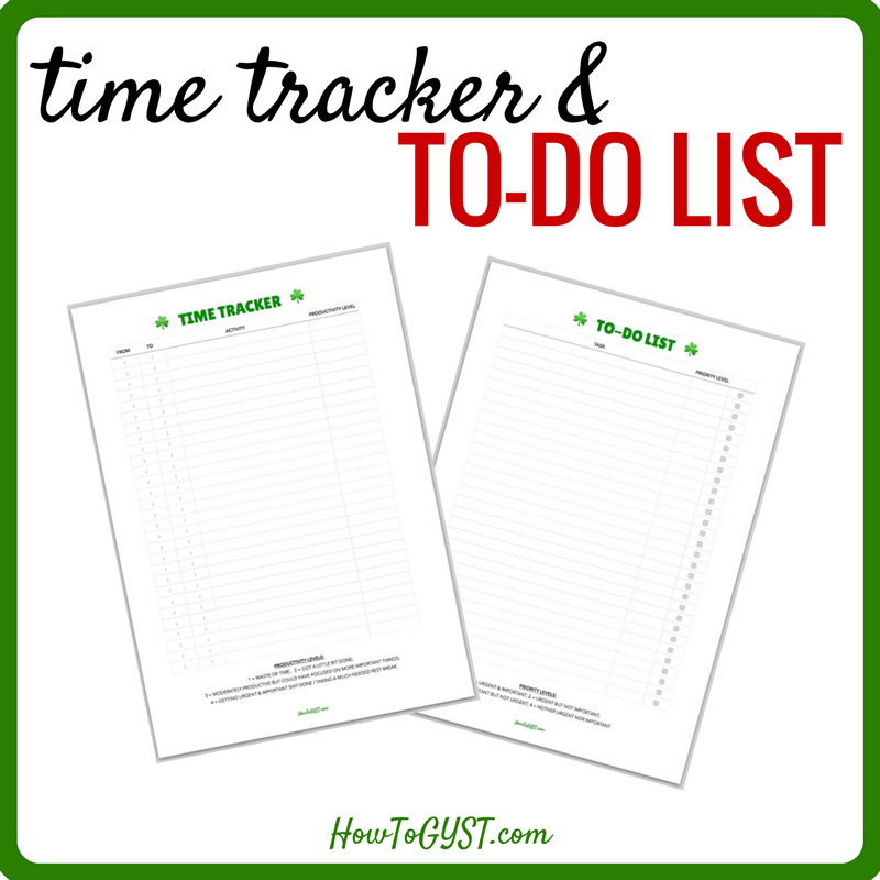 Time Tracker & To-Do List printable square thumbnail
