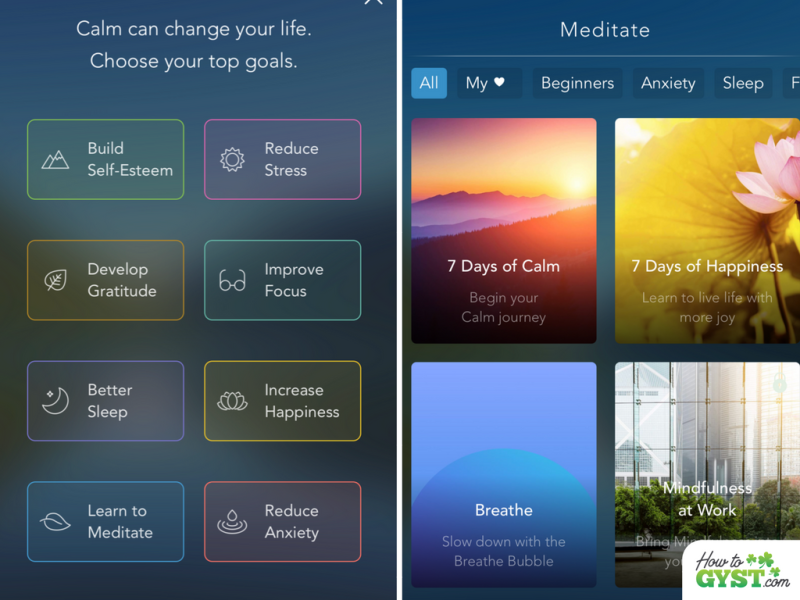 How I Changed My Life In 30 Days: Month 2 – Daily meditation –screenshots of Calm app