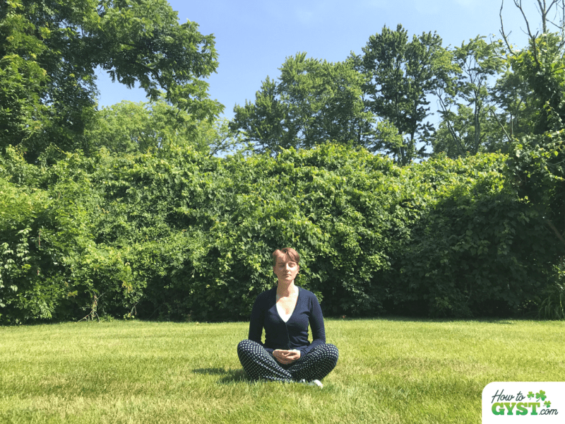 How I Changed My Life In 30 Days: Month 2 – Daily meditation –meditating in back garden, front view