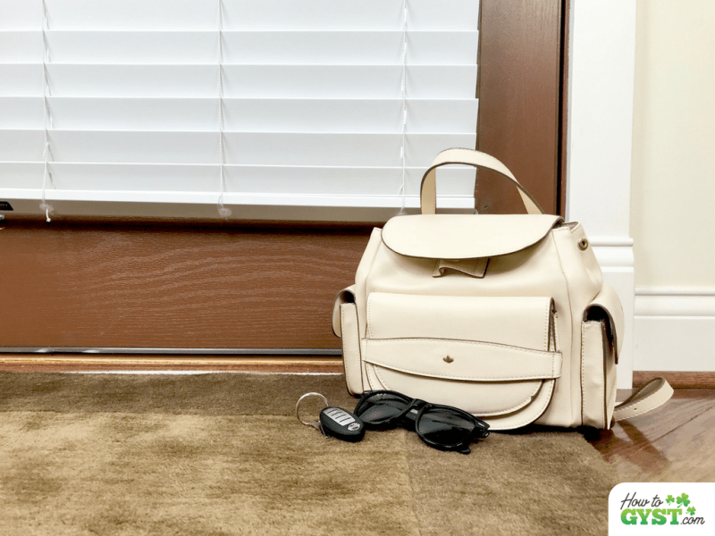 Sunday Habits | Prep & pack your bag | Bag, keys, & sunglasses by front door