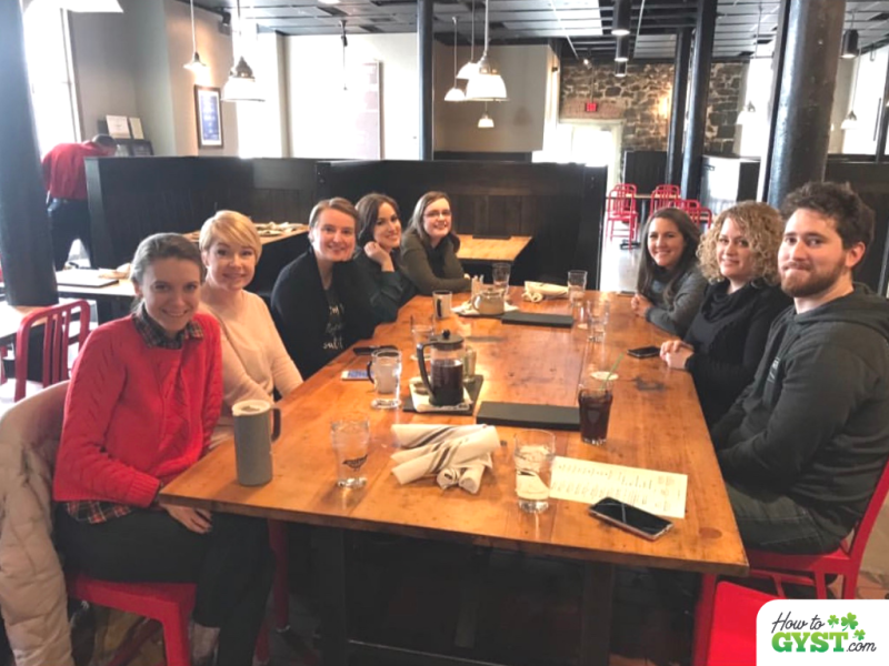 The Winter of my discontent: Group photo of Chic Sparrow crew at lunch, Spokane, February 2018