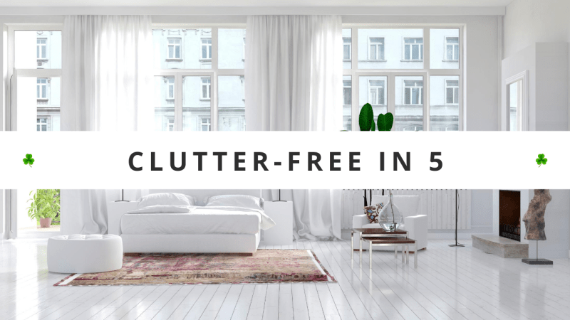 Declutter Challenge - Your 30 day decluttering guide, teaching you how to declutter your home in just five minutes a day, for FAST decluttering results